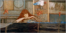 Vinilo para la pared  I lock my door upon myself - Fernand Khnopff