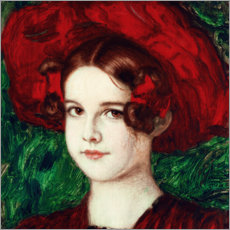Cuadro de plexi-alu  Mary with a Red Hat - Franz von Stuck