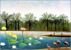 Vinilo para la pared  The Flamingos - Henri Rousseau