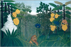 Cuadro de plexi-alu  The meal of the lion - Henri Rousseau