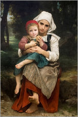 Vinilo para la pared  Breton Brother and Sister - William Adolphe Bouguereau