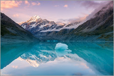 Cuadro de plexi-alu  Glacial lake at Mt Cook, New Zealand - Matteo Colombo