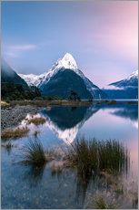Vinilo para la pared  Landscape: sunrise at Milford Sound, Fjordland National park, New Zealand - Matteo Colombo