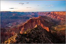 Vinilo para la pared  Sunset scenery from Grand Canyon South Rim, Grand Canyon National Park, USA - Peter Wey