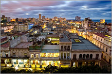 Cuadro de plexi-alu  View over Havana - Lee Frost