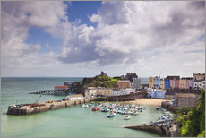 Cuadro de plexi-alu  Tenby Harbour, Pembrokeshire, West Wales, Wales, United Kingdom, Europe - Billy Stock