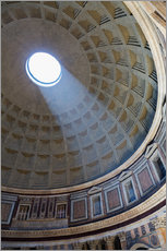 Vinilo para la pared  A shaft of light through the dome of the Pantheon, UNESCO World Heritage Site, Rome, Lazio, Italy, E - Martin Child