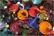 Vinilo para la pared  Colourful tajines, Essaouira, Atlantic coast, Morocco, North Africa, Africa - Stuart Black