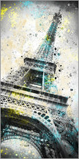 Vinilo para la pared  City Art PARIS Eiffeltower IV - Melanie Viola