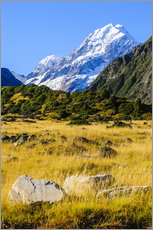 Vinilo para la pared  Mount Cook highest mountain in New Zealand, South Island - Michael Runkel