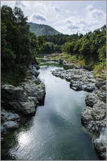 Vinilo para la pared  River contributing water to the Marlborough Sounds, South Island, New Zealand, Pacific - Michael Runkel