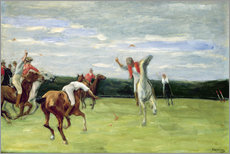 Vinilo para la pared  Polo players in Jenischpark - Max Liebermann