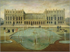 Cuadro de plexi-alu  Chateau de Versailles from the Garden Side - French School