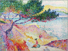 Vinilo para la pared  La playa de Saint-Clair - Henri Edmond Cross