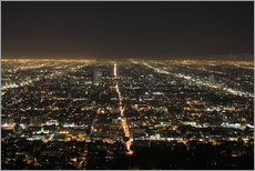 Cuadro de plexi-alu  Los Angeles at night - Wendy Connett