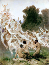 Cuadro de plexi-alu  The Oreads - William Adolphe Bouguereau