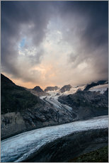 Vinilo para la pared  Sunset view from Chamanna Boval, Pontresina, Engadin, Switzerland - Peter Wey