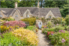 Cuadro de plexi-alu  Romantic Cottage garden in the Cotswolds (England) - Christian Müringer