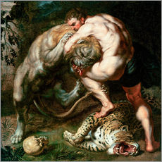 Cuadro de plexi-alu  Hercules Fighting the Nemean Lion - Peter Paul Rubens