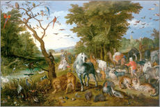 Cuadro de plexi-alu  Noah leads the animals into the ark - Jan Brueghel d.Ä.