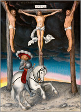 Vinilo para la pared  The Crucifixion with the converted Captain - Lucas Cranach d.Ä.