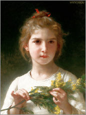 Vinilo para la pared  The flowering mimosa - William Adolphe Bouguereau
