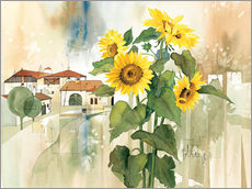 Cuadro de plexi-alu  Sunflower greetings - Franz Heigl