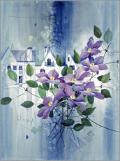 Vinilo para la pared  View with clematis - Franz Heigl