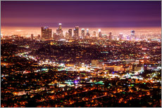 Cuadro de plexi-alu  Los Angeles at night - Daniel Heine