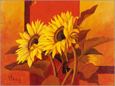 Cuadro de plexi-alu  Two sunflowers III - Franz Heigl
