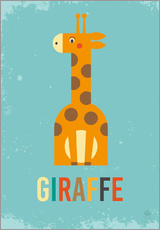 Vinilo para la pared  Baby Giraffe for the nursery - Petit Griffin