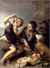 Vinilo para la pared  The pie eaters - Bartolome Esteban Murillo