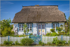 Vinilo para la pared  Thatched cottage on the Baltic Sea - Christian Müringer