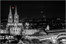 Vinilo para la pared  Blutmond over the Cologne Cathedral - rclassen