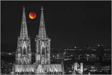 Cuadro de plexi-alu  Blood Red Moon Cologne Cathedral - rclassen