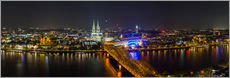 Cuadro de plexi-alu  Cologne Night skyline panorama - rclassen
