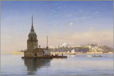 Cuadro de plexi-alu  The Maiden's Tower (Maiden Tower) with Istanbul in the background - Carl Neumann