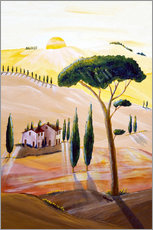 Vinilo para la pared  Tuscany in the morning - Christine Huwer