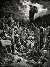 Vinilo para la pared  The Vision of The Valley of The Dry Bones - Gustave Doré