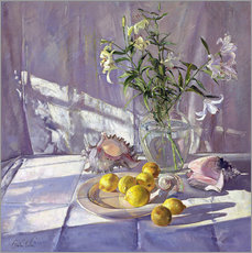 Cuadro de plexi-alu  Still Life Flowers and Lemons - Timothy Easton