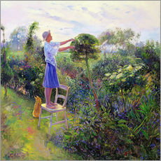 Cuadro de plexi-alu  Working in the garden - Timothy Easton