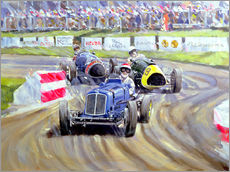 Vinilo para la pared  The First Race at the Goodwood Revival, 1998 - Clive Metcalfe