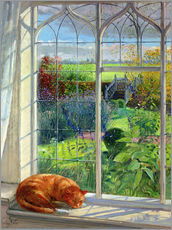 Vinilo para la pared  Cat in the Window, Summer - Timothy Easton