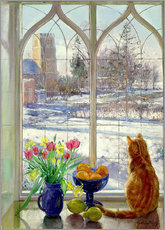 Cuadro de plexi-alu  Snow Shadows and Cat - Timothy Easton