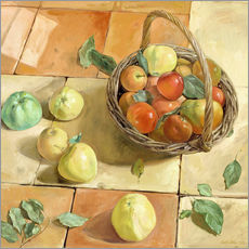 Vinilo para la pared  Still Life apple basket - Timothy Easton