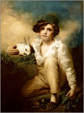 Cuadro de plexi-alu  Boy and Rabbit - Henry Raeburn
