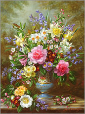 Vinilo para la pared  Bluebells, daffodils, primroses and peonies - Albert Williams