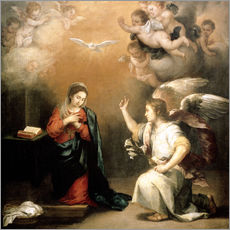 Vinilo para la pared  Annunciation to the Virgin - Bartolome Esteban Murillo