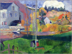 Póster  Brittany Landscape: the David Mill - Paul Gauguin