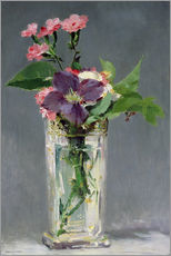 Cuadro de plexi-alu  Pinks and Clematis in a Crystal Vase - Edouard Manet